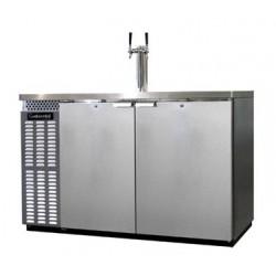 """Draft Beer Cooler, 50"""", 2-Keg, Stainless Steel"""