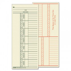 Time Clock Cards for Cincinnati 3-3/8 x 8-1/4