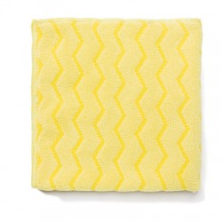 Microfiber Cleaning Cloths. 16 x 16, Yellow