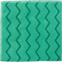Microfiber Cleaning Cloths.  16 x 16, Green