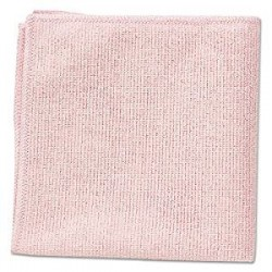 Microfiber Cleaning Cloths, 16 x 16, Pink