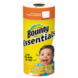 Bounty Essentials Perforated Roll Paper Towel, 30 Rolls