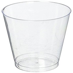 9-oz Squat Clear Hard Plastic Cup