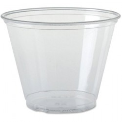 9-oz. Clear Soft PET Flexible Plastic Rocks Cups
