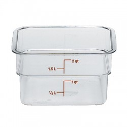 Cambro Storage Container 2 qt. Square, Clear