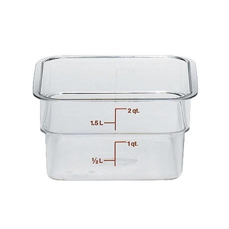 Cambro Storage Container 2 qt. Square, Clear
