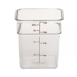 Cambro Storage Container 4 qt. Square, Clear