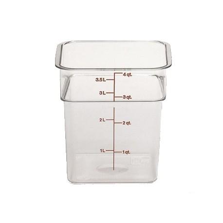 Cambro Storage Container 4 qt. Square, Clear