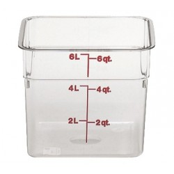 Cambro Storage Container 6 qt. Square, Clear