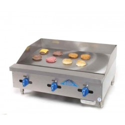 """Griddle, Countertop, Manual, Gas, 30"""", 21-1/4"""" Cooking Depth"""