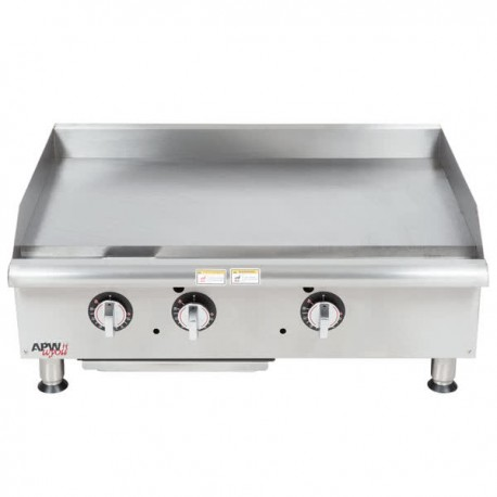 """Griddle, Countertop, Thermostatic, Gas, 36"""""""