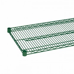 "Wire Shelving, Green Epoxy, 24"" x 60"""
