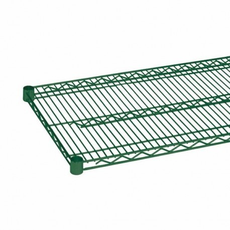 "Wire Shelving, Green Epoxy, 24"" x 72"""