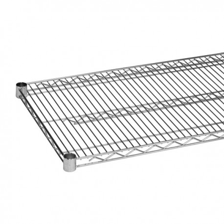"Wire Shelving, Chrome, 24"" x 72"""