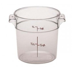 Camwear Round Storage Container, 1 qt., Clear