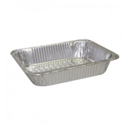 "Half-Size Aluminum X-Heavy Foil Steam Table Pans. 4-3/16""D"