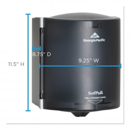 Center Pull Towel Dispenser Smoke/Gray