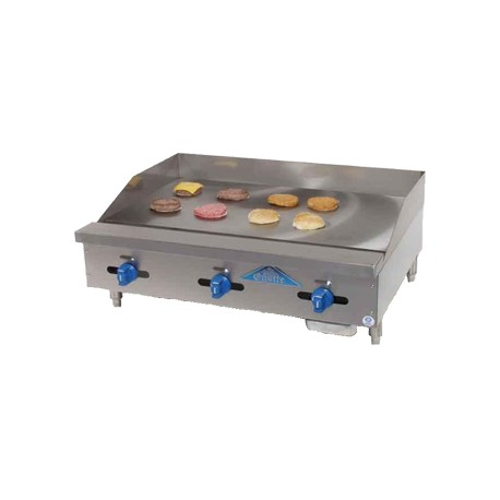 """Griddle, Countertop, Manual, Gas, 72"""""""