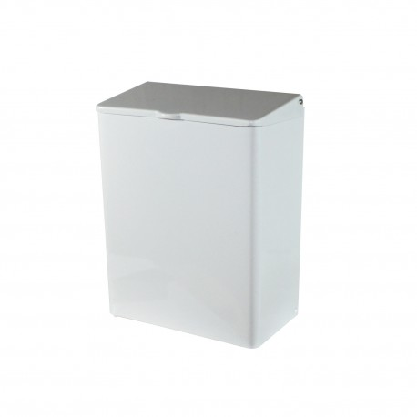 Wall-Mount Sanitary Napkin Receptacle, Steel