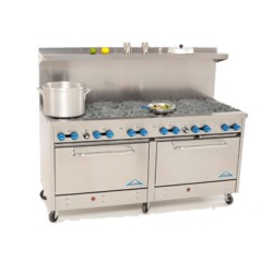 "Comstock Castle Range 72"", 12 burners"