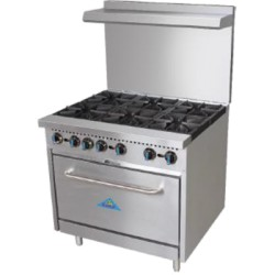 Comstock Range 6-Open Burners w/Oven, 36""