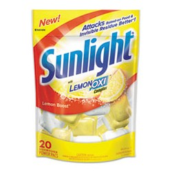 Sunlight Machine Dishwashing Detergent Powder, 1.5-oz. Packets