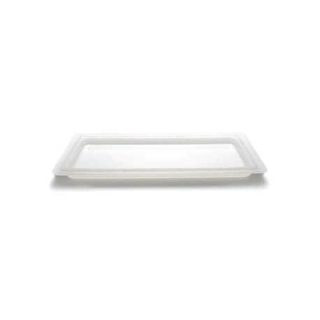 "Cambro Food Storage Lid Rectangle, 12"" x 18"", White"