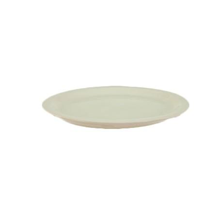 China Platter, 11-1/2'' X 9-3/8'', narrow rim, Dover White