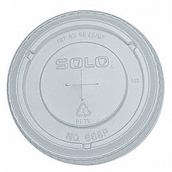 Lids, Straw Slotted, For Solo Cups: 16 oz.: SOL-168EN, 16 oz.-Y16JJ