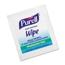 C-Purell Sanitizing Hand Wipes,1000/cs