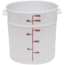 Cambro Storage Container 18 qt. Round, White
