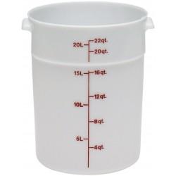 Cambro Storage Container 22 qt. Round, White
