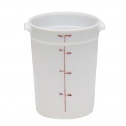 Cambro Storage Container 8 qt. Round, White