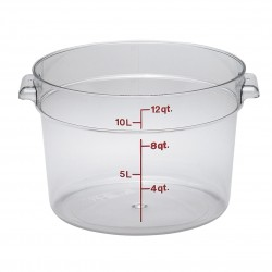 Camwear Storage Container, round, 12 qt., Clear