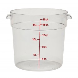 Camwear Round Storage Container, 18 qt., Clear