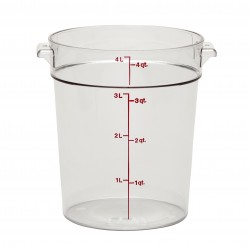 Camwear Round Storage Container, 4 qt., Clear