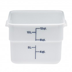Cambro Storage Container 12 qt. Square, White