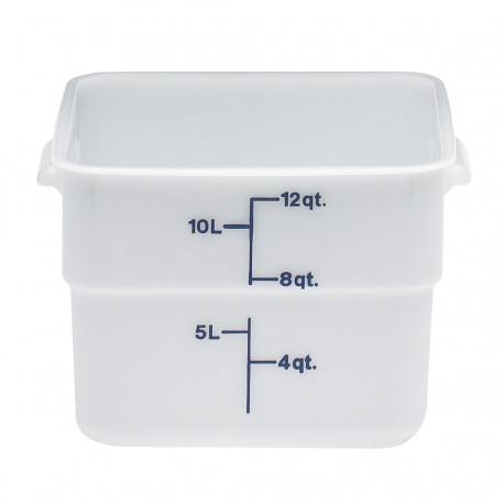 Cambro Storage Container 12 qt. Square, White