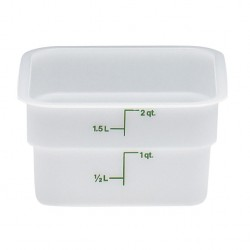 Cambro Storage Container 2 qt. Square, White