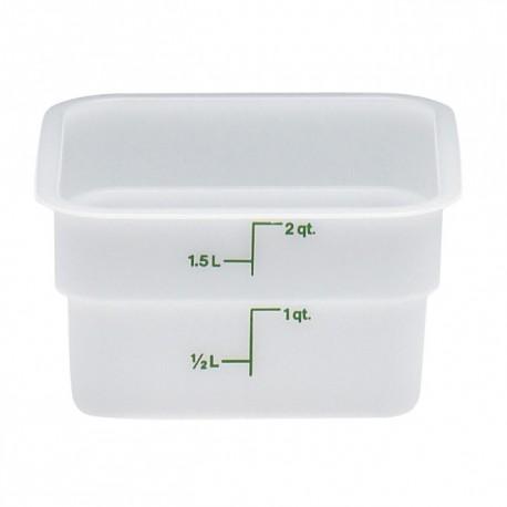 Cambro Storage Container 2 qt. Square, White