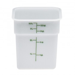 Cambro Storage Container 4 qt. Square, White