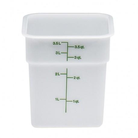 Cambro Storage Container 4 qt. Square, White