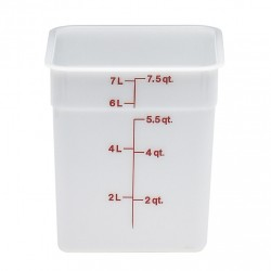 Cambro Storage Container 8 qt. Square, White