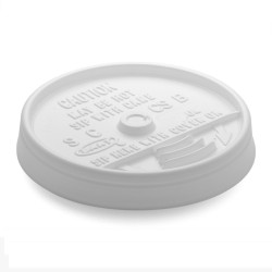 Dart Plastic Sip-Thru Lid. , For 12-oz.