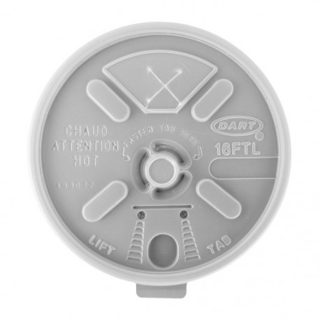 Dart Lift n Lock Lid with Straw Slot., For 12-24 oz.