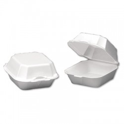 Foam Hinged Carry Out Containers, Sandwich, Regular