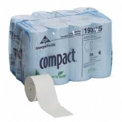 "Toilet Bathroom Tissue, Coreless, Compact, 1000 Sh., 4"" x 4.05"", 2 Ply"