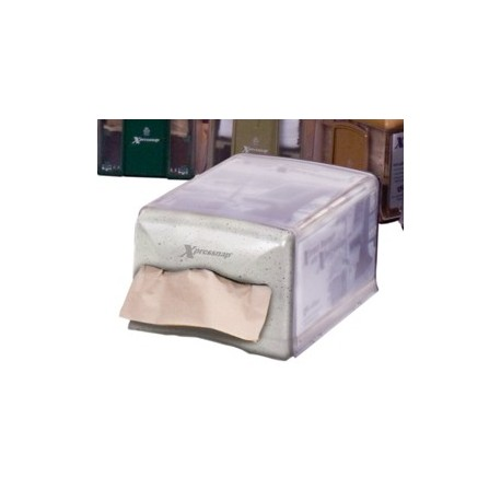Xpress Counter Model Napkin Dispenser, Clear/Granite