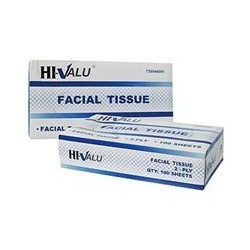 Hiv-Value Facial Tissue, Flat Dispenser Box Style