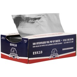 "Pop-Up Foil Sheets, Aluminum, 9"" x 10-3/4"""